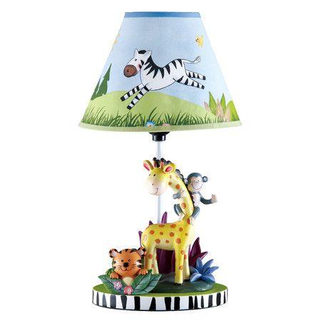 "Found it at Wayfair - Sunny Safari 15.5"" H Table Lamp with Empire Shade http://www.wayfair.com/daily-sales/p/Baby-Shower-Gifts-Sunny-Safari-15.5%22-H-Table-Lamp-with-Empire-Shade~TMD1261~E22335.html?refid=SBP"