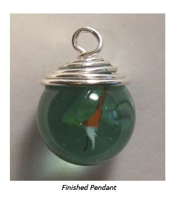 Sometimes the prettiest pendants are holeless - fortunately, making a wire bail is an easy solution! Check out instructions on how to create a wire bail for a marble #Jewelry