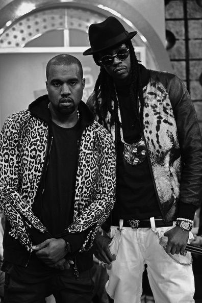 Kanye West x 2 Chainz....love the animal print outfits!