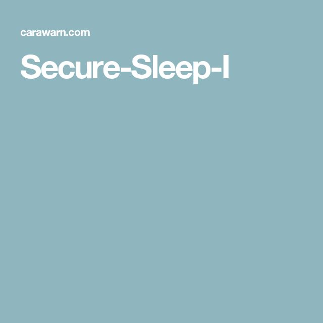 Secure-Sleep-I