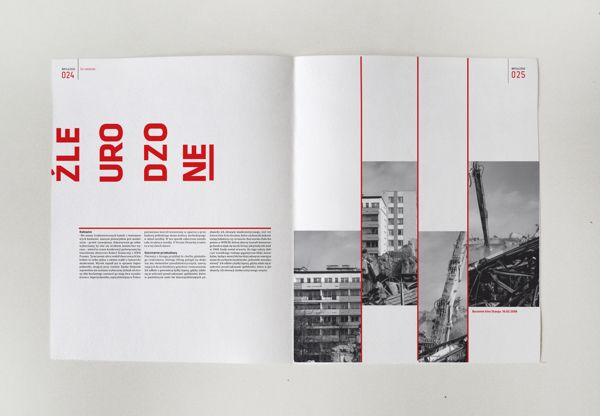 Projekt layoutu magazynu o architekturze by Kinga Limanowska, via Behance
