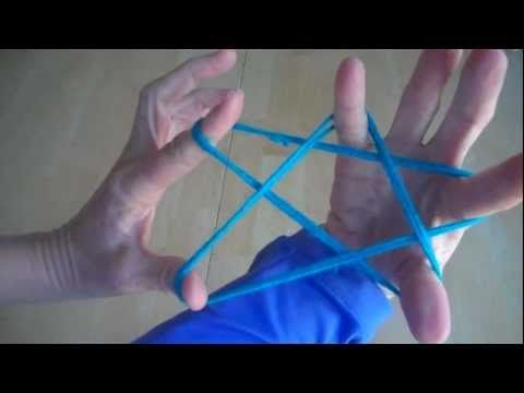 How to make a Star with string, step by step, cats cradle - YouTubeST