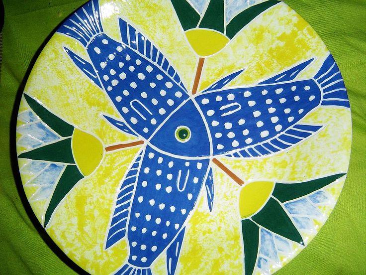 Lotus Fish plate – Inspired by an 18th Dynasty Egyptian Faience Bowl