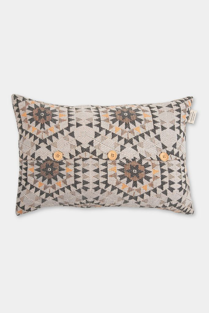 Honeycomb cushion cover: warm grey