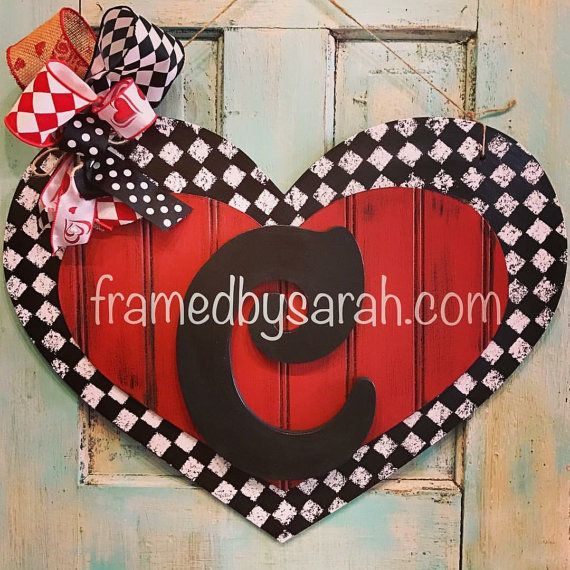This listing is for one Beadboard Layered Heart + initial door hanger. Choose your color. Please select a heart color and initial from the drop down menus. The heart is approximately 22 wide. Each heart is hand painted, and a protective finished added, and may vary slightly. A hanger and coordinating ribbon included (ribbon may vary based on what I have in stock.) For local pickup in Wichita Falls, TX, use coupon code LOCAL during checkout to avoid shipping charges! Framed! @ The Loft 3709…
