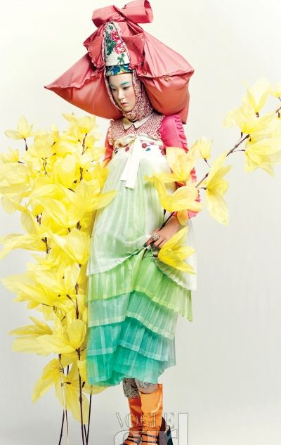 Spring-themed fashion editorial from Vogue Girl | Korea on my mind
