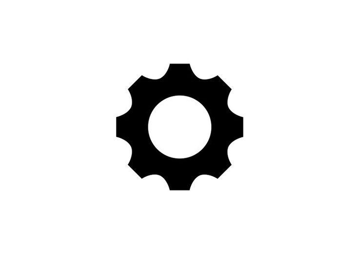 Single Gear Wheel Icon