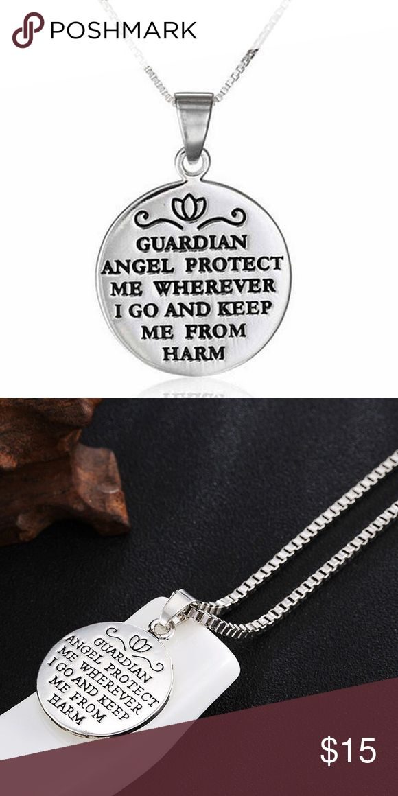 A New Alloy Double Faced Guardian Angel necklace A New Alloy Double Faced Guardian angel Pendant necklace Jewelry Necklaces