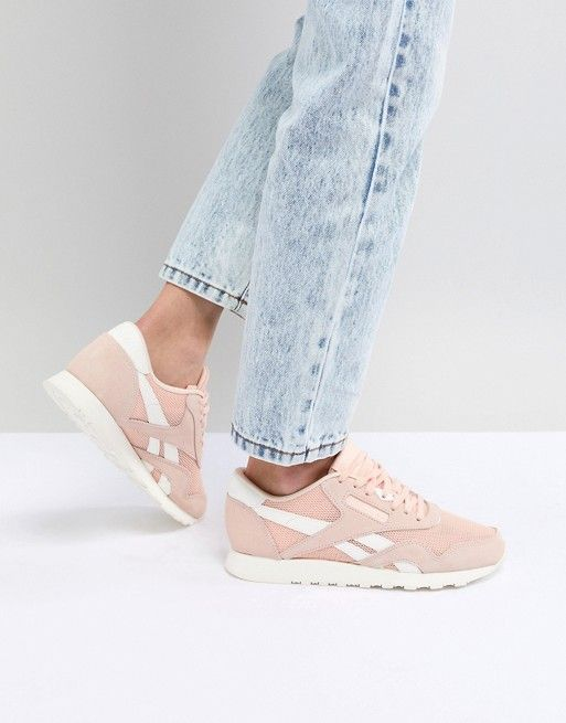 3b87dd5544d Reebok Classic Nylon Sneakers In Peach