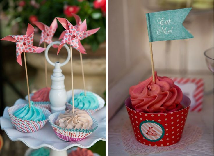 French Patisserie Christening Event @Am Villa in Ekali by De Plan V. Cup cakes in different figures, shapes and colours!