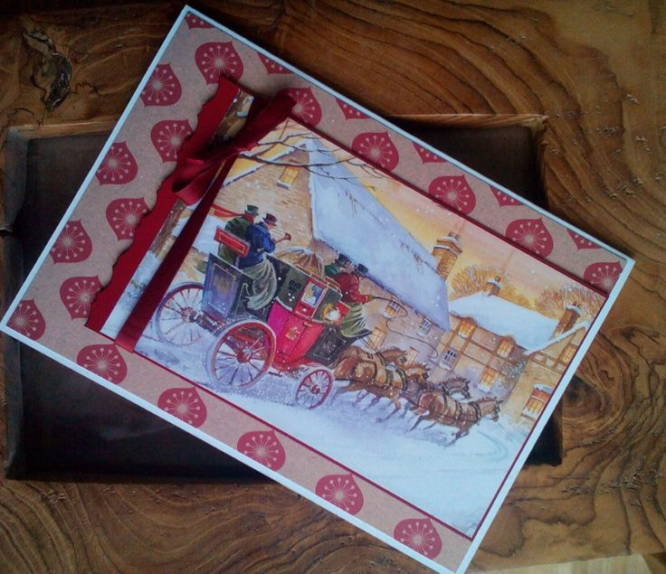 Love this Victorian theme topper from The Hunkydory Little Book of Christmas