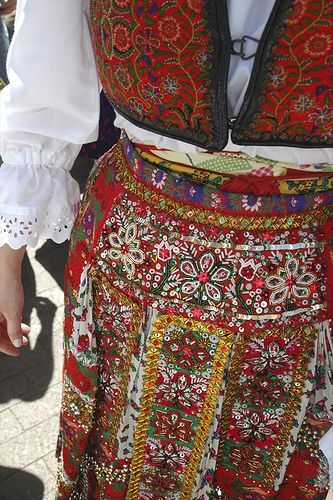 beaded apron from Kalotaszeg
