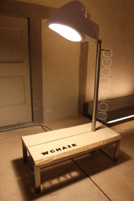 """""""La sosta"""" by Filippo Burresi - ALL RIGHTS RESERVED [Edizione 2010 Fuoriluogo: WChairs] #art #wc #toilet #bidet"""