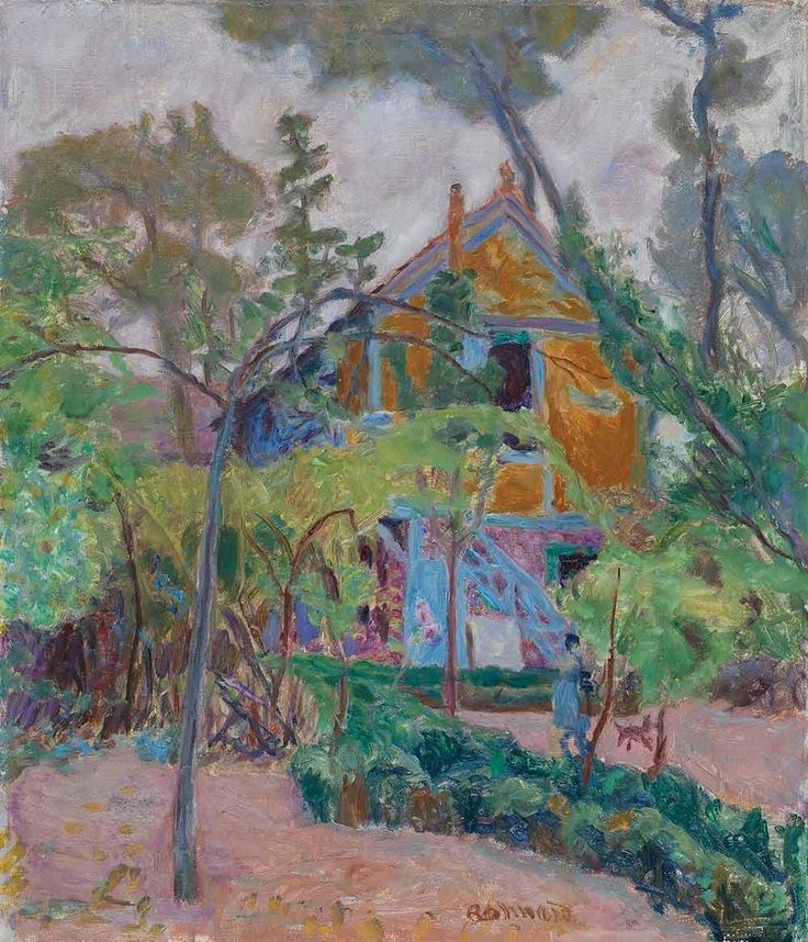 "Pierre Bonnard, ""maison parmi les arbres (""Ma roulette"" à Vernonnet)"", 1895. Oil on canvas."