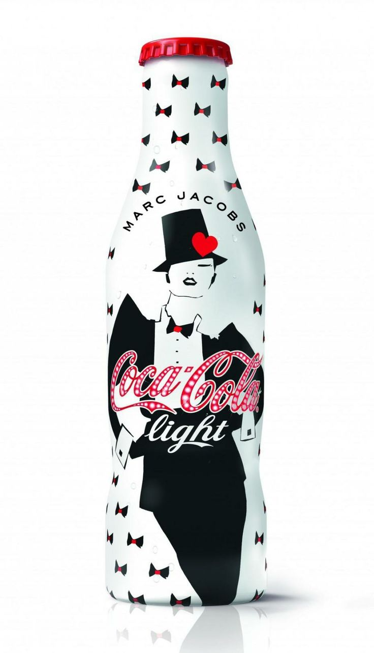 "Coca Cola Light ""Années 90"" Limited Edition bottle designed by Marc Jacobs"