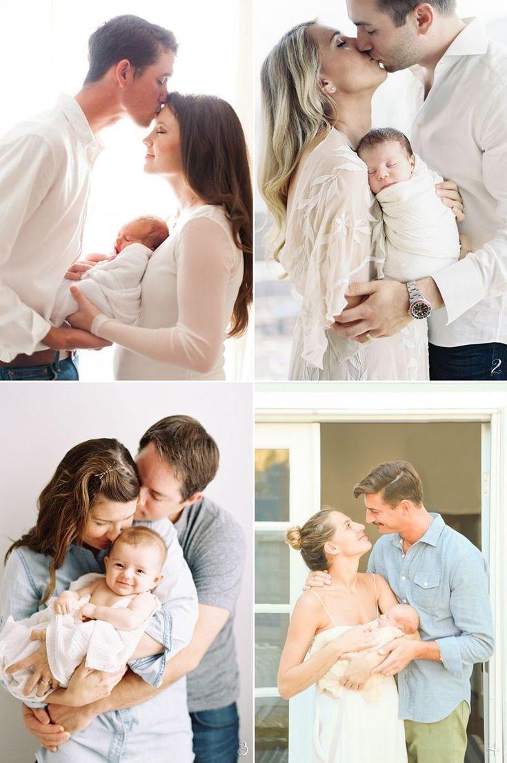 Wie posiere ich Eltern mit Neugeborenen? 6 stressfreie Babyfotoposen!   – Baby Photo Ideas
