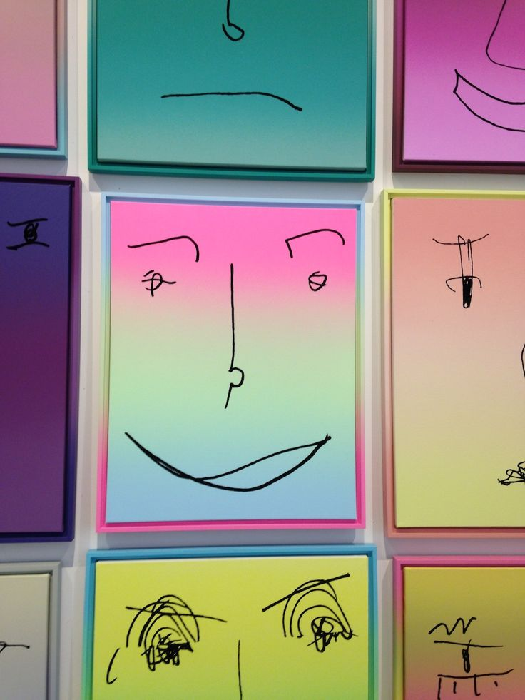 Rob Pruitt's pop culture-inspired ombre smiley faces #artbasel