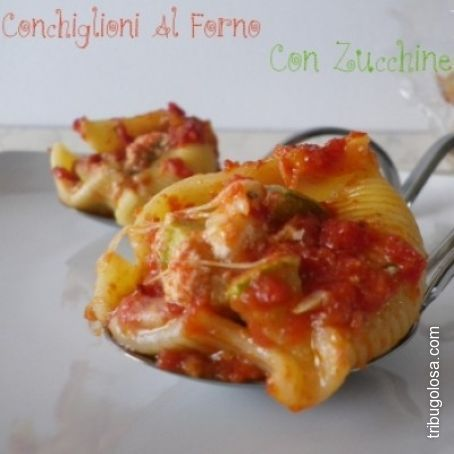 Conchiglioni ripieni di zucchine e mozzarella