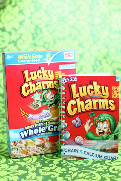 Lucky Charms #cereal #box #notebooks