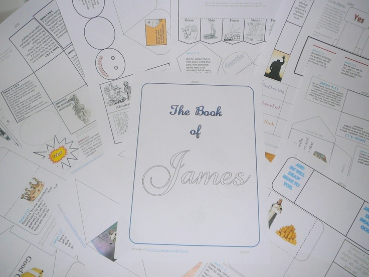 Book of James lapbook! Yay I'm so excited about doing this with kiddos! I'm doing a James study right now and would love to do with kids too!