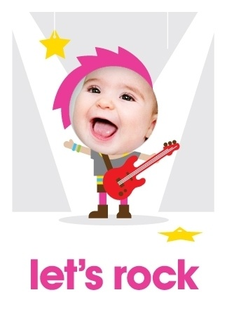 Your child wants to rock and roll till bedtime and party every day. This is the perfect invitation to bring the whole band back together.
