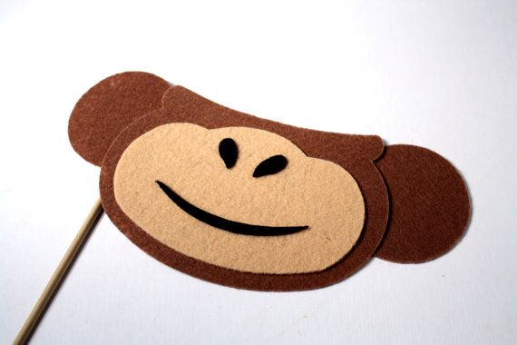 Monkey. Photo booth Props. Party Props. Wedding by MaroDesigns, $7.95  monkey Photo Booth!! I NEED this!!