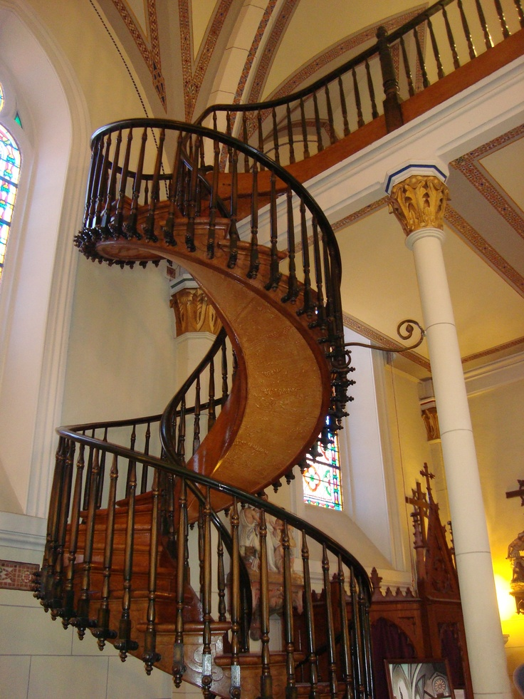 A Santa Fe Nm Staircase With No Center Support