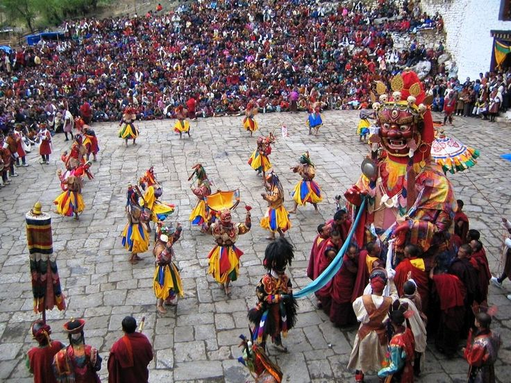 A colourful festival in Bhutan