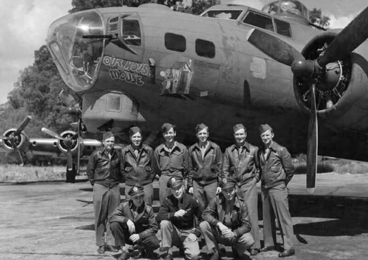 "B-17 ""OUTHOUSE MOUSE"" 323rd BS 91st BG 139 missions in the ETO--on the last bomb mission over Germany by the 91st 25 April 1945."