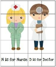 Doctor & Nurse printables for preschool