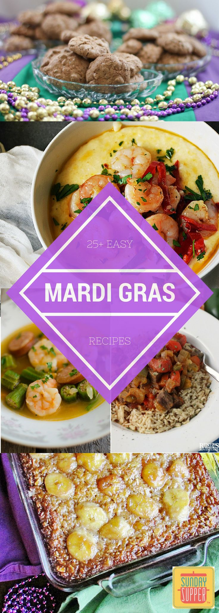 Sunday Supper tastemakers narrow down some of the most decadent, easy Mardi Gras recipes that are sure to make you want to party, too! #SundaySupper
