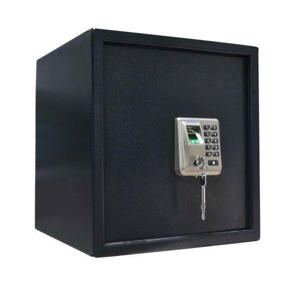 Биометрический сейфовый замок ZKTeco SF1000 ZK-SF-1000 Встроенный биометрический замок ZKTeco SF1000 с сенсором отпечатков пальцев и водонепроницаемой механической клавиатурой. Память на 50 отпечатков, 50 паролей, 10000 событий. До 3000 циклов открывания замка от батареи (в комплект не входит). Сейф имеет цельный корпус из марганцевой стали, с отверстиями для крепления сейфа к полу. Дверца оснащена защитой от подглядывания. Съемные полки позволяют хранить ценные предметы, такие как…