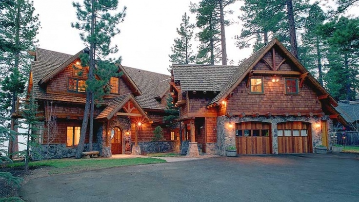 Mountain Craftsman Style architecture  Paradise Point Lakefront | Carnelian Bay, CA | Tahoe Luxury Properties