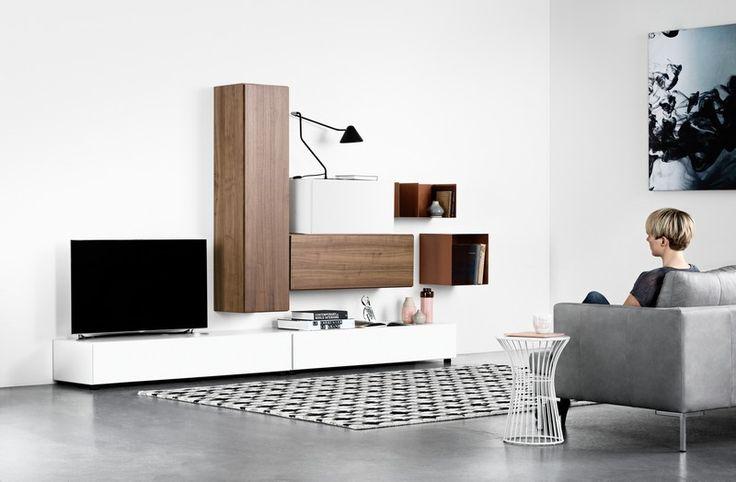 Lugano designer wall-mounted TV unit