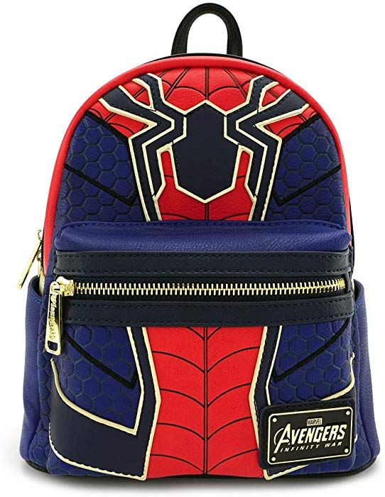 c2c22c923 Amazon.com | Loungefly x Marvel Avengers Infinity War Spider-Man Cosplay  Mini Backpack (One Size, Blue/Red) | Backpacks