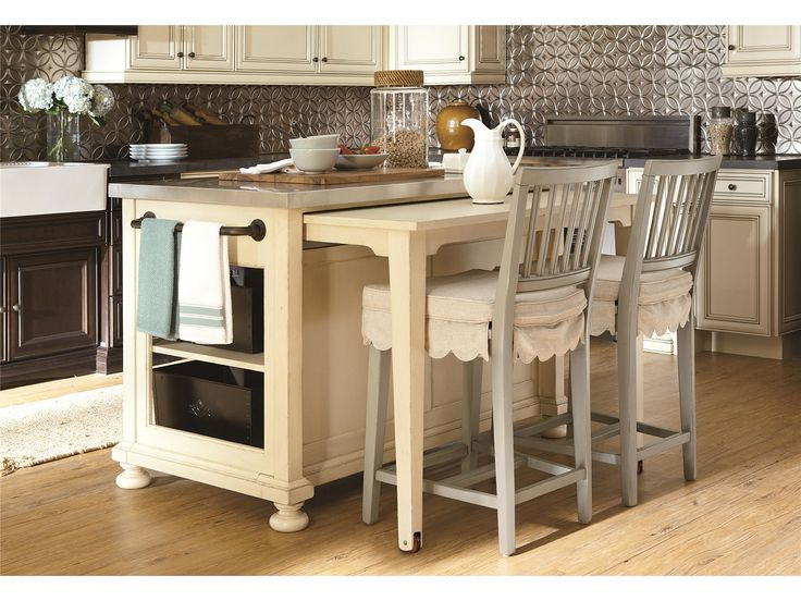pleasant breakfast bar ideas for kitchen with extended zinc countertops  table island two barstools with fabric cushion and dish towel for kitchen  island ... - 128 Best Paula Deen's River House Collection Images On Pinterest