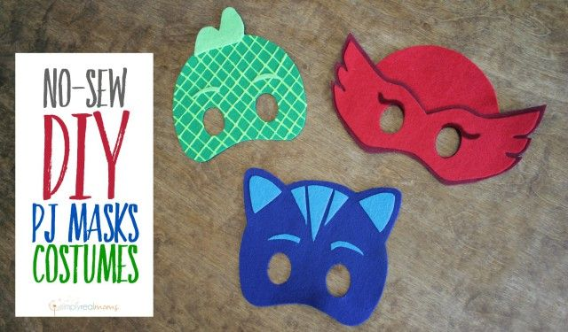 No Sew DIY PJ Masks Costumes