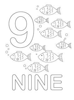 number coloring pages [printable]