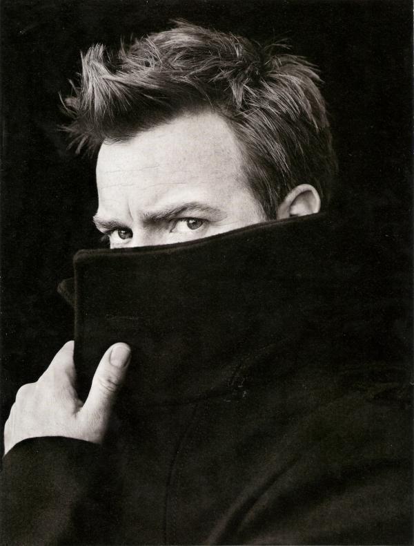 Ewan McGregor- One of my faves. hair.coat. fiercely blue eyes... yummmm.