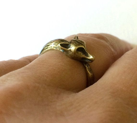 Fox Ring  Animal Ring Bronze Fox Ring Dog by PERCIVALandHUDSON
