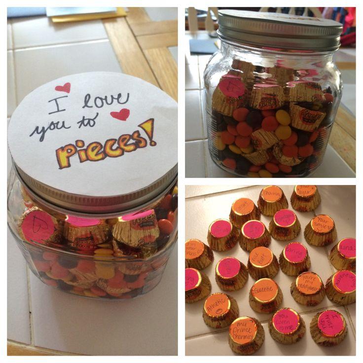 Birthday gift boyfriend DIY Reese's cute love
