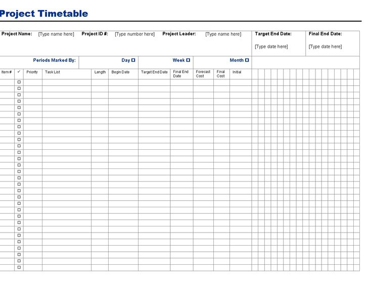 Project Timetable Template Is Loaded With Readymade Timetable That Can Be  Used To Manage The Project  Project Timetable Template