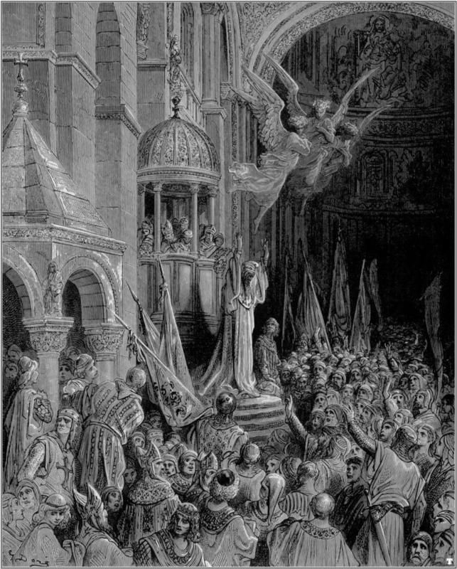Dandolo, Doge of Venice, Preaching the Crusade - Gustave Dore