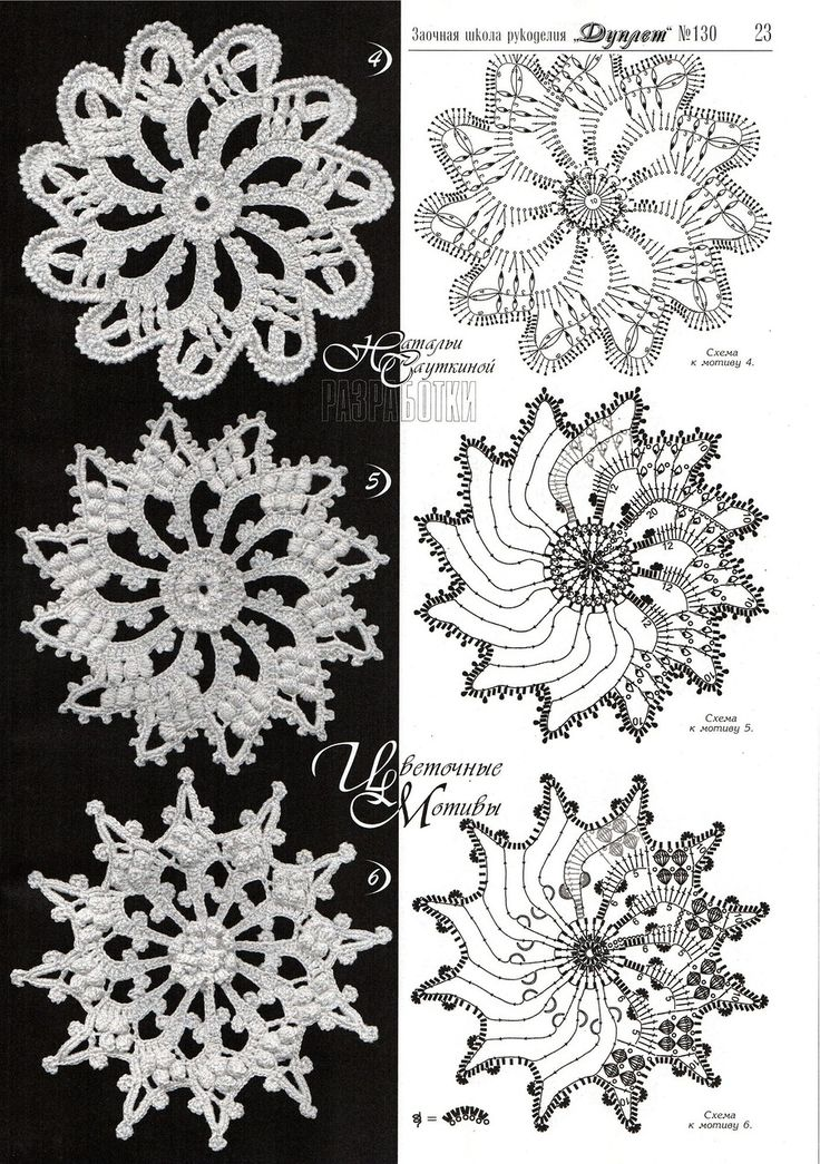 irish crochet motif
