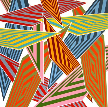 SAra Hughes Data Crash 2 2009 Acrylic on linen 80 x 80 cm_Cat09_web