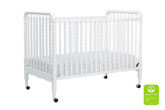 Jenny Lind 3 in 1 Convertible Crib in White | Davinci Cribs Available at SugarbBabies!