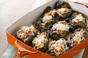 Vegetarian Chiles Rellenos recipe #meatlessmondays