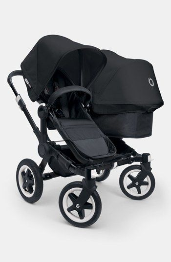Bugaboo 'Donkey Duo - All Black Special Edition' Stroller Extension Set available at #Nordstrom