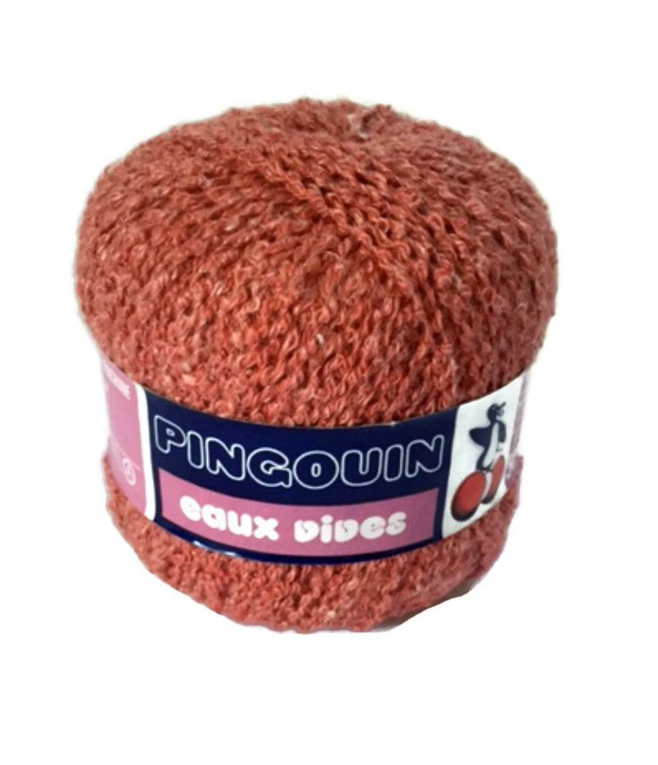Lot 6 Laines Pingouin Yarn Eaux Vives Dark Pink 55239 Acrylic #3 Wt DK  #Pingouin #Boucle