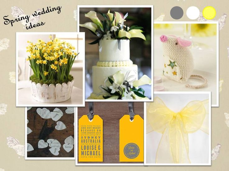 yellow wedding themes for spring & early summer